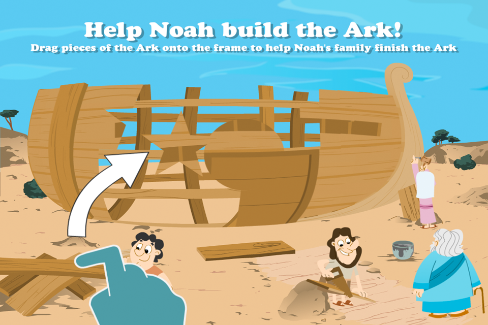 Screenshot Noah's Ark Bible Story with Built-in Games – Fun and Interactive in HD
